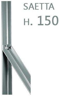 NEXTRADEITALIA CF da 1PZ Saetta di sostegno Paletto a T per recinzioni da GIARDINO recinzione in ferro ZINCATO a L mm 25x25x3 altezza 200 CM ZINCO