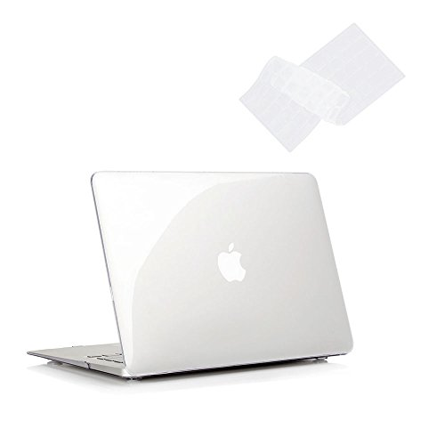 Ruban - AIR 13-inch Crystal Clear Rubberized Hard Back Case with Keyboard Cover for MacBook Air 13.3