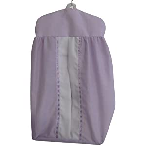 Baby Doll Bedding Regal Diaper Stacker, Lavender