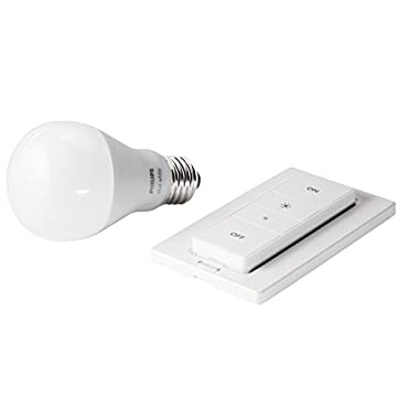 Philips 455394 Hue Wireless Dimmer Kit, 1 Dimmer and 1 Hue White Bulb, 2nd Generation