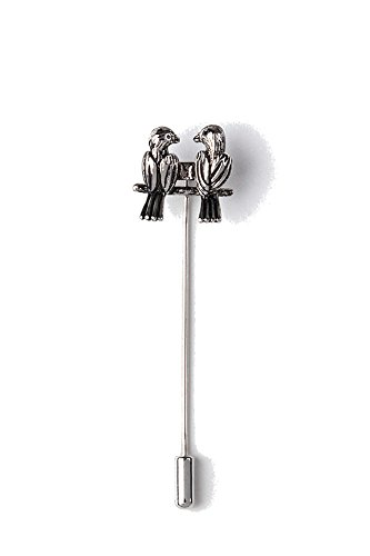 Men's Premium Love Birds Stick Pin Lapel Pin from Wild Ties