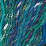 Plymouth Yarn Mushishi Big, 1 skein of color #104, teal / blue variegated