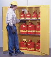 Sure-Grip EX Flammables Cabinet with Manual Doors (30-gal) by Carolina Biological Supply Company