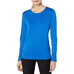 Hanes Women's Sport Cool Dri Performance Long Sleeve Tee, Awesome Blue, Small