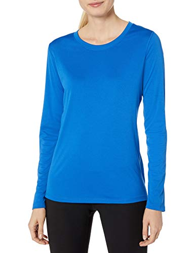 Hanes Women's Sport Cool Dri Performance Long Sleeve Tee, Awesome Blue, Large