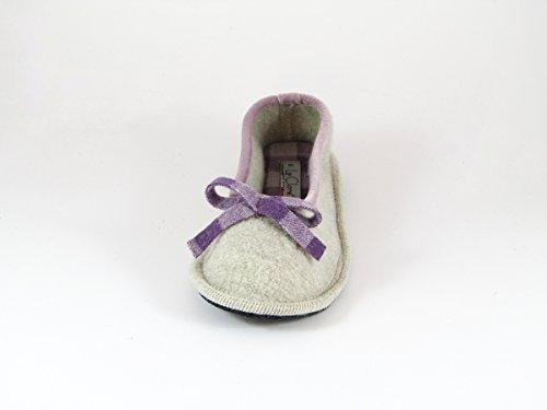 Pantofole da Donna Invernali Beige/Prugna