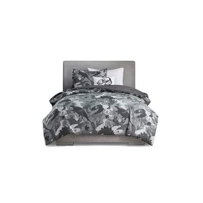 Mizone Kids Dylan Printed Dino Camo Comforter Set (Twin): Home & Kitchen