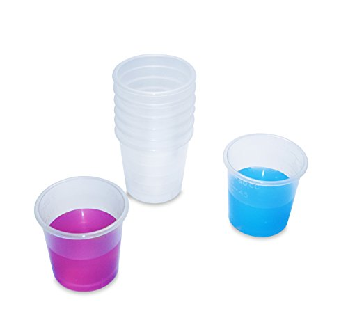 2 Ounce Medicine Cups - Thick Plastic Disposable Medicine Cups (50)