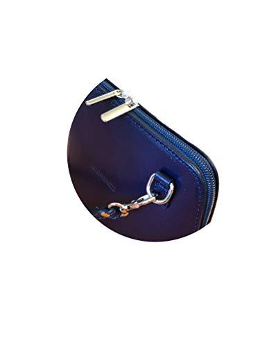 Mujer Bandolera amp;lorenzo De Bolso L Cuero Azul 6v0qREWO