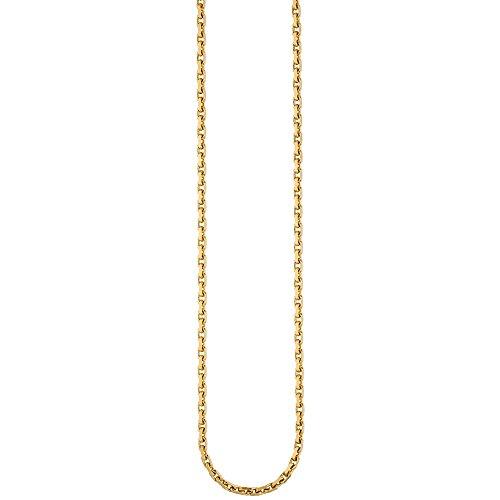 3mm d'ancrage chaîne collier bijou collier en or jaune 585diamantée 50cm