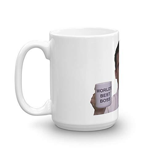 Michael Scott - World's Best Boss Mug 15 Oz White Ceramic
