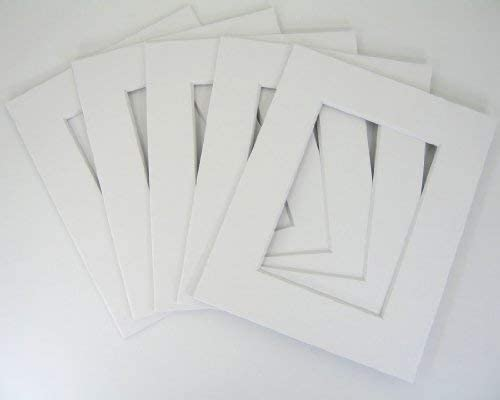 Bag Set of 100 8x10 for 4x6 White Mat with Backing