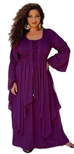 Plum Y Babaseal Largo De One Encaje Chic Mujer Vestido Lagenlook Con Tamaño Ribete La Hasta Size color Rodilla w11qBx6Ir