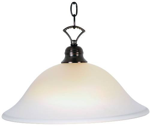 Monument 617232 Pendant Ceiling Fixture with One 40 Watt Compact Type Fluorescent Lamp, 16'', Oil Rubbed Bronze, 13.291'' x 13.291'' x 13.291''