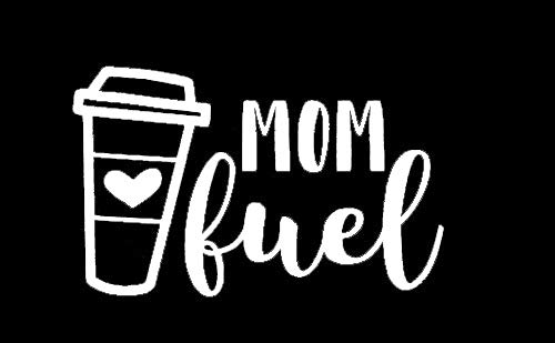 Makarios LLC Mom Fuel Caffeine Mothers Cars Trucks Vans Walls Laptop MKR| White |5.5 x 3.5|MKR900