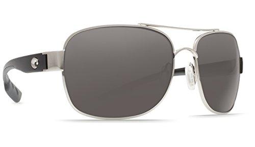 Costa Del Mar Cocos C-Mate 2.50 Sunglasses, Palladium, Gray 580P ()