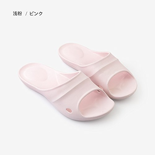 fankou Couple of Your Living Room. Men Cool Slippers Home Stay Bath Anti-Slip Bathroom Slippers Summer Female,M (39-40), a Light Pink