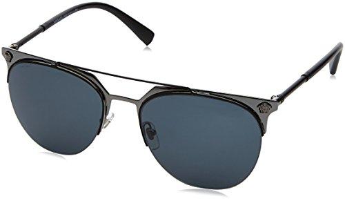 Versace Unisex VE2181 Matte Black/Gunmetal/Grey One ()