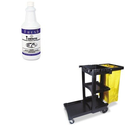 KITFPI1232TNCTRCP617388BK - Value Kit - Fresh Products Terminator Deodorizer All-Purpose Cleaner (FPI1232TNCT) and Rubbermaid Cleaning Cart with Zippered Yellow Vinyl Bag, Black (RCP617388BK) (Purpose Cleaner Terminator Deodorizer All)