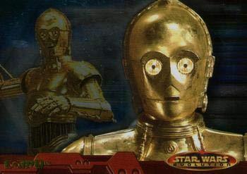 2001 Topps Star Wars Evolution #14 C-3PO trading card NM