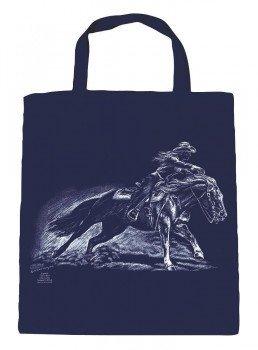 Stofftasche Shopper Bag Einkaufstasche Baumwolltasche mit Pferdmotiv-Druck LIGHTLINE WESTERNREITEN NEU (08830) Kollektion Bötzel