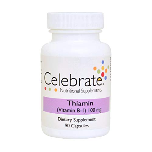 Celebrate Thiamin Vitamin B-1 100mg Capsules – 90 Count