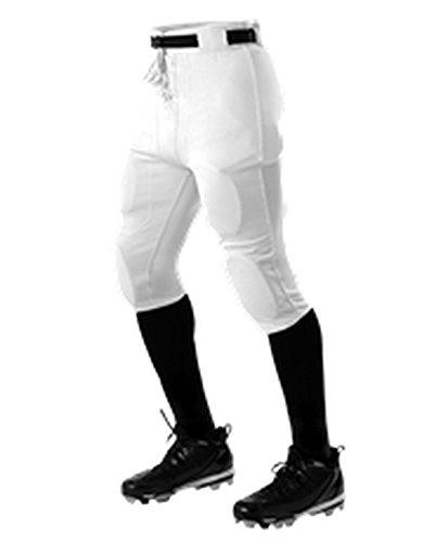 Alleson ADULT PRACTICE FOOTBALL PANT WHITE L 610SL 610SL-WH-L