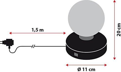 Proyector Disco giratorio Ø11 x 20 cm, juego de luces azul-rojo ...