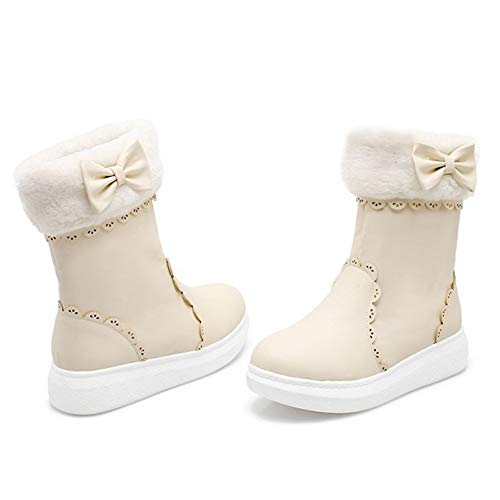Thick Sole Women Coolcept On Comfort Pull Short Beige Boots qpT6Yqw