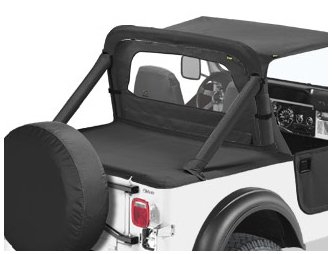Bestop 80007-15 Black Denim Sport Bar Cover for 1980-1986 CJ-5 and CJ-7 by Bestop (Image #2)