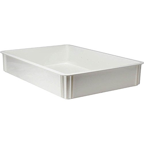 Dough 26' Box (Pizza Dough Box, 26''L X 18''W X 3''D, White, Polycarbonate, Rounded Edges, Dishwasher Safe, Break (6 Pieces/Unit))