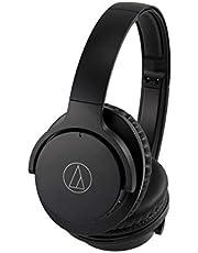 Audio-Technica ATH-ANC500BT QuietPoint Wireless Active Noise Cancellation Bluetooth Over-Ear Headphones, Black