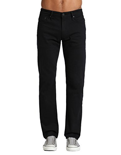 - Mavi Men's Zach Regular-Rise Straight-Leg Jeans, Black Williamsburg, 33W X 30L
