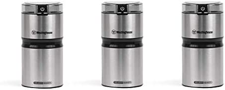 Westinghouse WCG21SSA Select Series Stainless Steel Electric Coffee and Spice Grinder – Amazon Exclusive 4- Pack