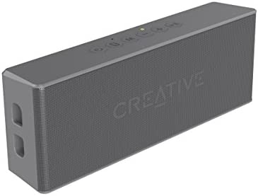 Creative MUVO 2 Portable Water-resistant Bluetooth Speaker with Built-in MP3 Player Grey