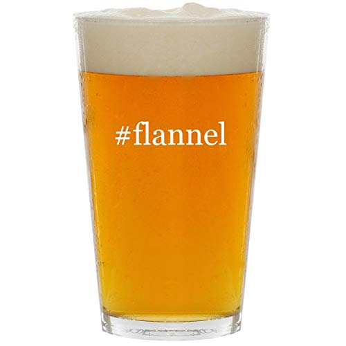 #flannel - Glass Hashtag 16oz Beer Pint
