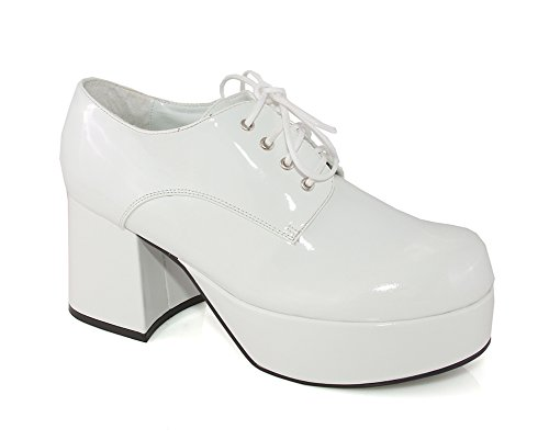 Ellie 312 Pimp Mens White Oxfords Shoes, Size - M (White Costume Pimp)
