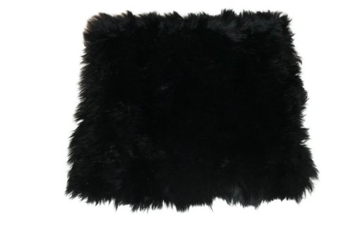 Genuine Australian Sheepskin Chair Cushions Wool Black