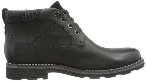 Negro Hombre Botas Leather cuero Black Clarks de Noir xqIF6nRn