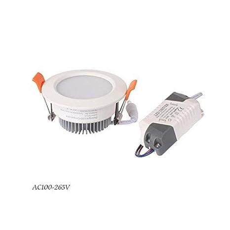 Diolumia Lot de 10 Spots LED Encastrables plafond 5W Blanc du jour 5000K Dur/ée de vie 50 000h Plafonnier Downlight LED Encastr/ée salon chambre cuisine Equivalent 40W Diam.85 * 43 mm 350lm