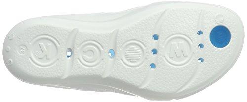 Ultraligero Talón Drenaje; Eur Compensado; 39 Calzado Canales Profesional Uk Blanco 6 Azul Senses Impactos; De Aqua Reducción Uso Wock ; 7SHYzqw