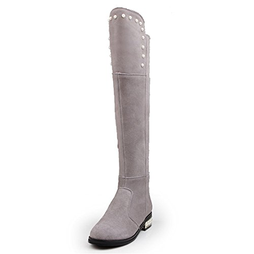 Nine SevenOver-the-knee Boots - Botas mujer gris