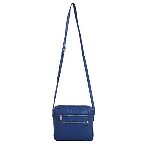 Soft nbsp;with Leather Blue Handbags RFID Protection Royal Tote Handmade Bags Women Handbags Shoulder fgRq1X1B