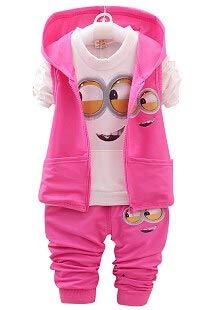 Best Quality - Clothing Sets - Kids Clothes Minions Baby Boy/Girl Clothing Set 3pcs Sport Suit Casual Children T-Shirt + Pants+Vest Boys Costume Child Set - by LA Moon's - -
