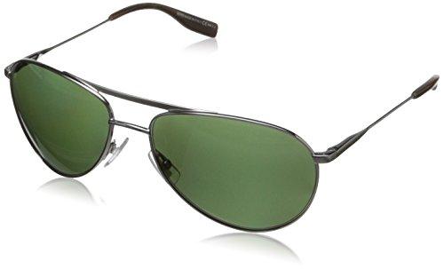 BOSS by Hugo Boss Men's B0617S Polarized Aviator Sunglasses,Matte Ruthenium,60