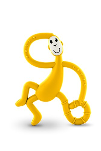 Matchstick Monkey Dancing Monkey Teether - Teething Toy (Yellow)