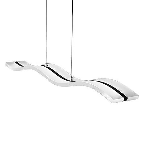LightInTheBox - Lámpara de techo colgante, diseño moderno contemporáneo con forma de ondas, LED, 40 W, acabado cromado para salón, comedor, ...