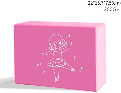 ヨガブリック女性高密度子供のダンスの特別なエクササイズ圧力脚ブリックヨガ補助ツール機器22 * 15.7 * 7.5センチメートル (Color : D)