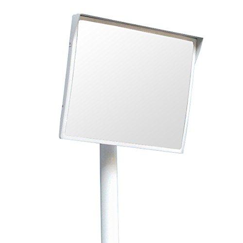 ホップ アクリル製 道路反射鏡 ミラーと支柱(ポール)セット 角型60cm×50cm HPLA-角5060SP白 日本製 道路反射鏡協会認定商品   B01J7I8DVS