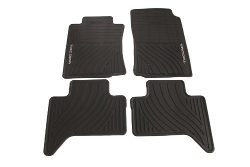 Genuine Toyota Accessories PT908-35002-02 Front and Rear All-Weather Floor Mat - (Black), Set of 4 02 All Weather Floor Mats